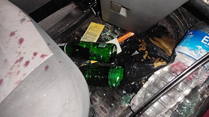 Bursa'da 3 kişin yaralandığı kazada araçta alkol şişeleri bulundu