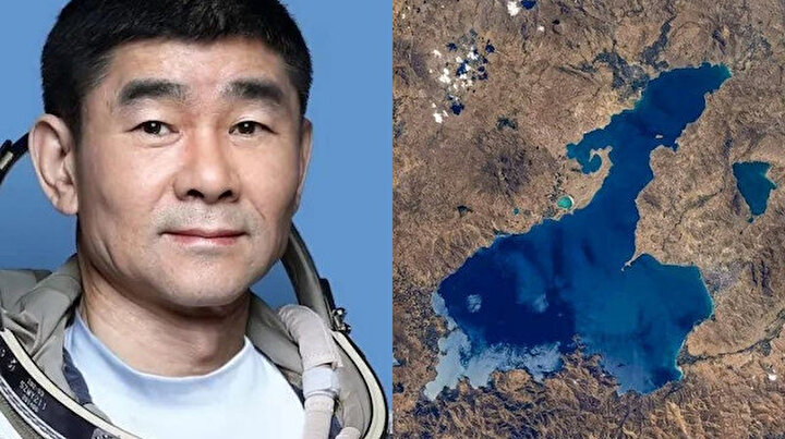 NASAdan sonra Çinli astronotun da ilgisini çekti: Van Gölü'nü anka kuşuna benzetti