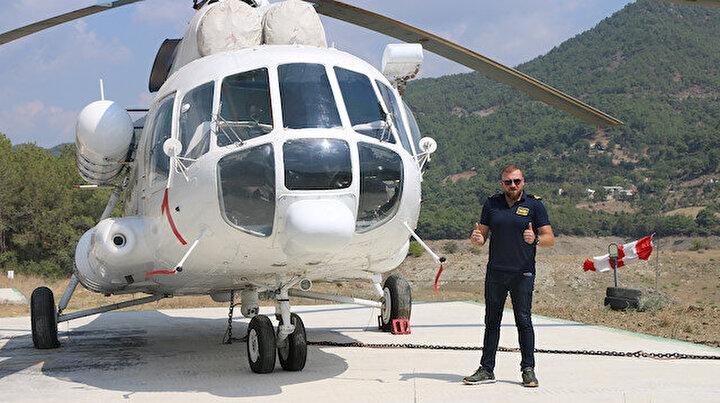 Helikopter pilotu: Yangın ihbarı aldıktan 10-12 dakika sonra lastiği yerden kesiyoruz