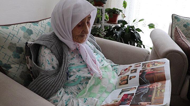 Sariye Ninenin Cumhurbaşkanı Erdoğan sevgisi: 15 yıldır fotoğraflarını ve gazete küpürlerini biriktiriyor