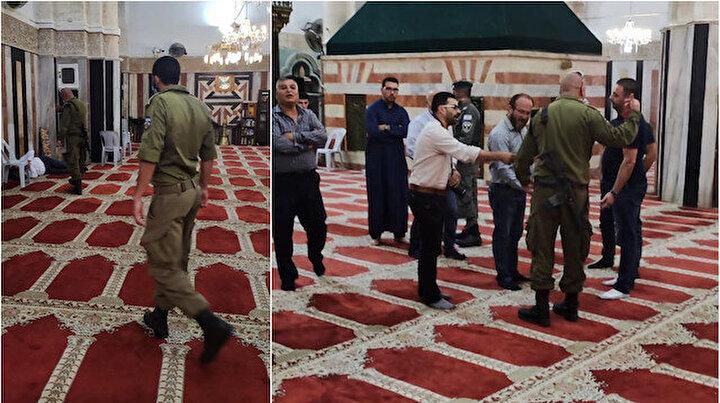 İşgalci İsrail güçleri camiye ayakkabıyla girip ibadet edenleri dışarı çıkardı