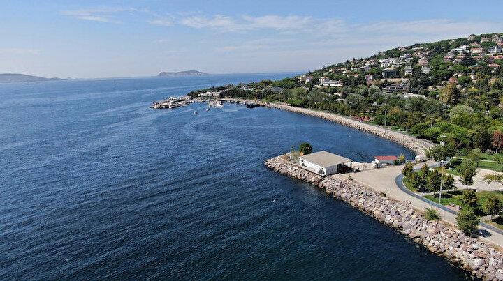 Tertemiz: Müsilajdan arındırılan Caddebostan ve Kartal sahilleri havadan görüntülendi