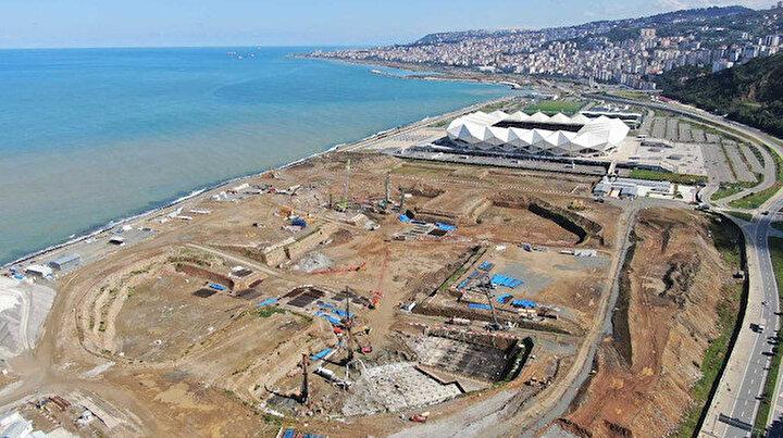 Trabzon Şehir Hastanesinin yapım çalışmaları sürüyor: 400 fore kazık çakılacak