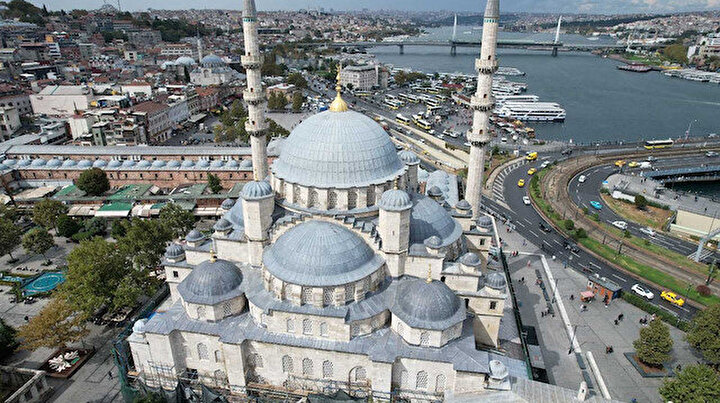Eminönü'ndeki Yeni Caminin restorasyonunda sona doğru: Yüzde 85i tamam