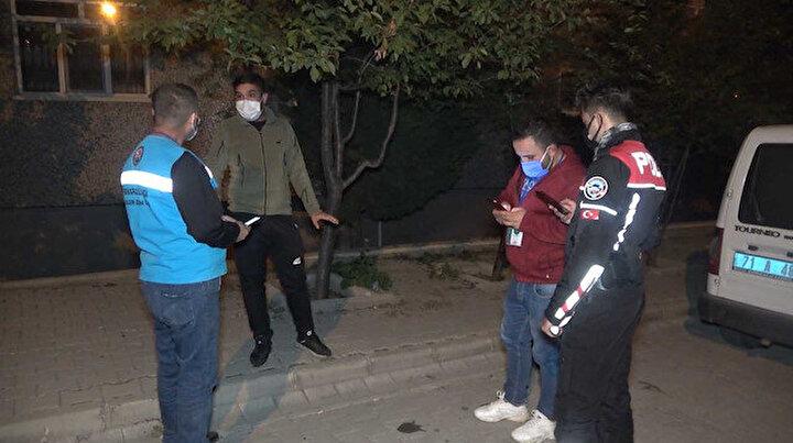 Çöp atmak için sokağa çıkan koronalı genç 4 bin 50 lira ceza yedi