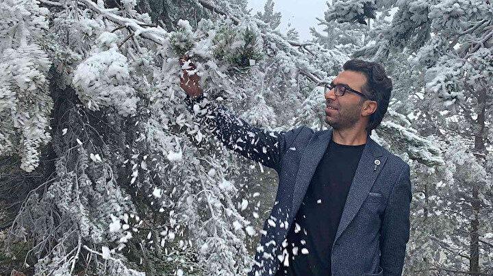 Termometreler eksi 10u gördü: Sarıkamış buz kesti ağaçlar kırağı tuttu