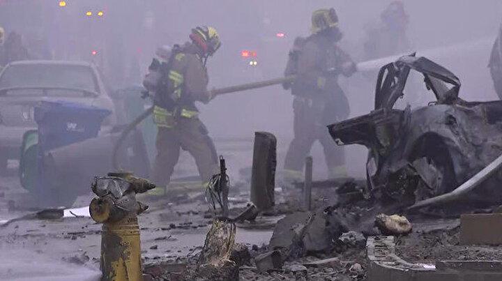 ABDde uçak kazası: Evlerin bulunduğu bölgeye düştü
