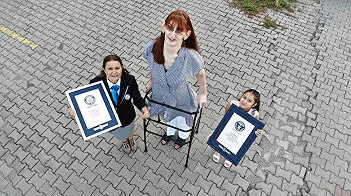 Boyu tam 2 metre 15 santim: Karabüklü Rümeysa Guinness Rekorlar Kitabında