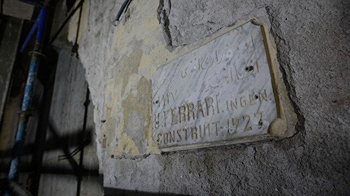 Haldun Taner Sahnesinin restorasyon çalışmalarında Osmanlıca mimar kitabesi bulundu