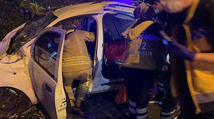 Maltepe'de yürekleri ağza getiren kaza: Taklalar atarak karşı şeride geçti