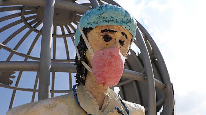 CHPli belediyeden bir heykel faciası daha! Denizlililer bunu tartışıyor: Çocuklar korkabilir
