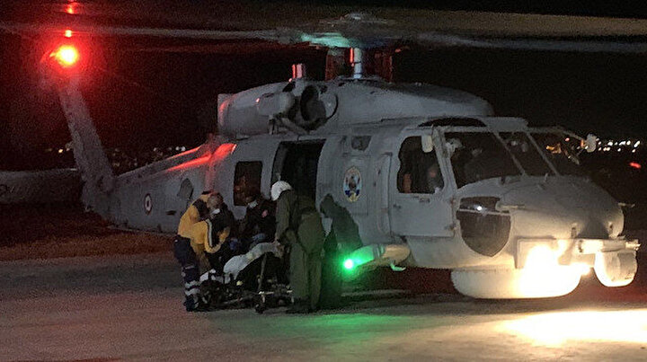 Gökçeadada mahsur kalan hastanın imdadına Deniz Kuvvetleri yetişti: Helikopterler hastaneye taşıdılar