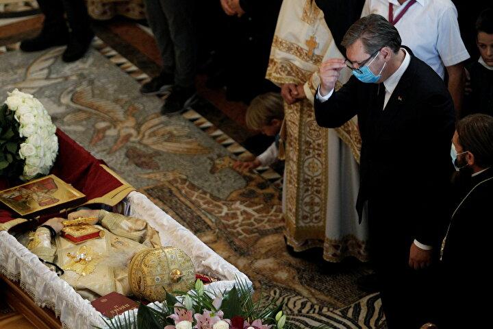 Cenazeye katılanlar arasında Sırbistan Cumhurbaşkanı Alexander Vucic de vardı.