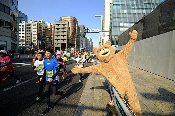 Tokyo maratonundan renkli kareler