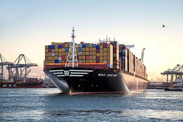 Dünyanın en büyük konteyner gemisi MSC Oscar