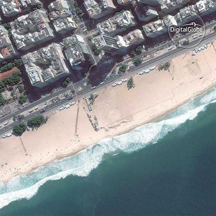 Öncesi: Plaj voleybolu sahası
