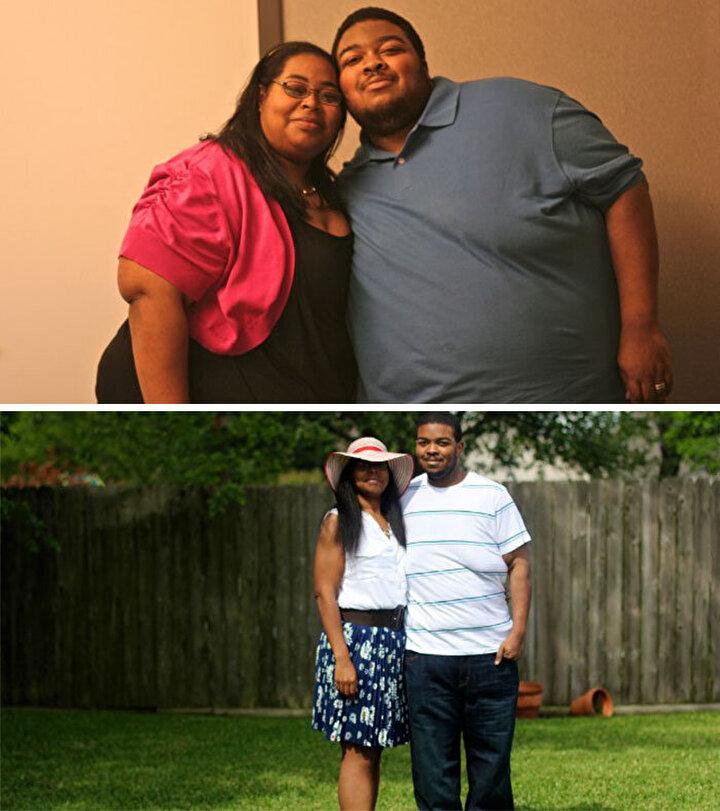 Bu çift ise zayıflama kararı aldıktan sonra toplamda 225 kilo vermiş.