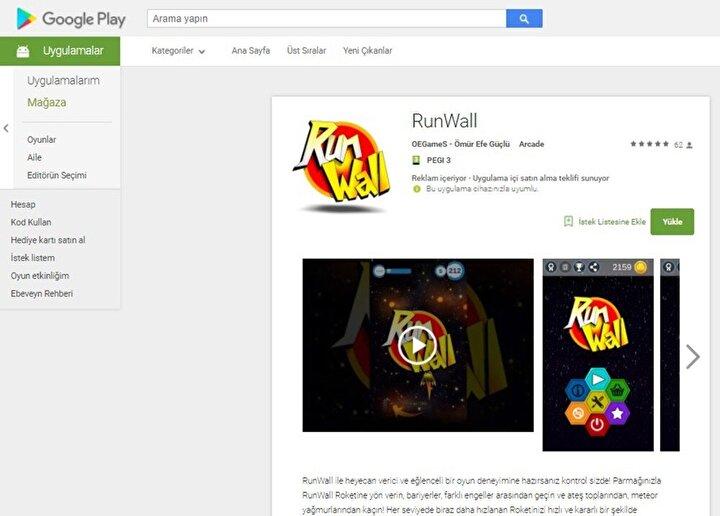 Güçlü, oyunun Türkçe-İngilizce versiyonuyla Google Play'de yer aldığını, gün geçtikçe indirme sayısının arttığını söyledi.