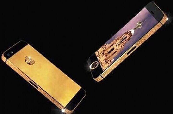 Altın cep telefonu 16 milyon dolara satıldı.