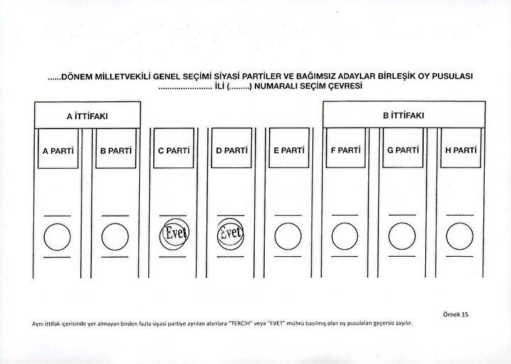 Oy Kullanma Rehberi: Hangisi geçerli, hangisi geçersiz?
