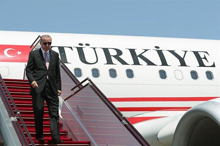 Başkan Erdoğan 24 Haziranda yapılan Cumhurbaşkanı ve 27. Dönem Milletvekili Genel Seçiminin ardından yurt dışına ilk resmi ziyaretini gerçekleştirdi.
