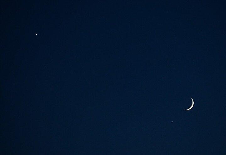 Gökyüzünde ay ve yıldızın görüntüsü, Türk bayrağını anımsattı