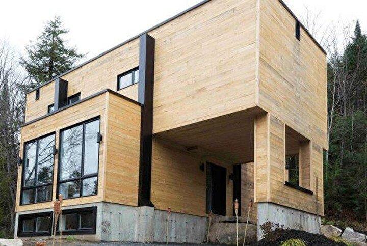 Dış tasarımı ile dikkatleri üzerine çeken evin iç dizaynı ise görenleri hayran bıraktı.