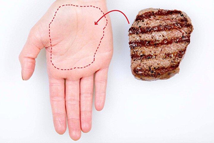 Et tüketeceğiniz zaman, kendi avuç içinizi ölçü olarak kullanabilirsiniz.
