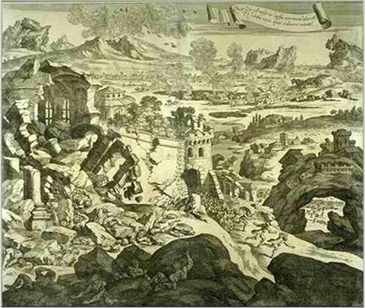 11 Ocak 1693te yerel saatle Sicilya 7.4 şiddetinde bir depremle sarsıldı. Yoğunluğu 11 seviyesinde olan bu deprem güney İtalyayı yerle bir etti. 5600 kilometre kareyi etkileyen deprem minimum 70 kasaba ve şehri yaşanılmaz hale getiren bu deprem, ardından tsunamiler de oluşturdu ve 60 bin kişinin ölümüne sebebiyet verdi.