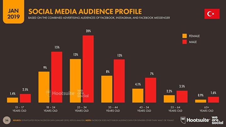 Sosyal medya kullanıcı profilleri.