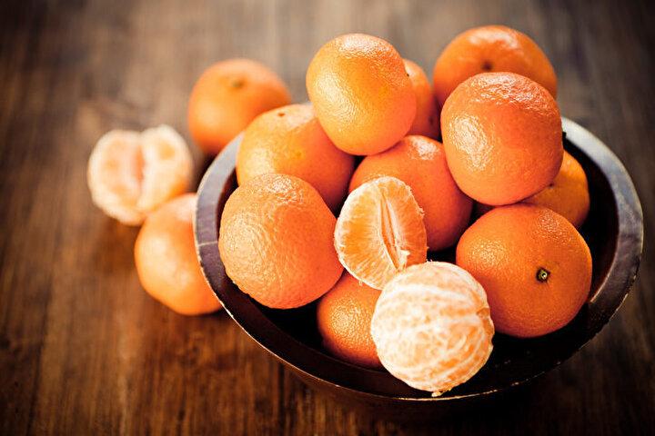 Mandalina: Karotenoid ve A vitamin bakımından zengin olan mandalinanın kanı temizleme özelliği vardır.