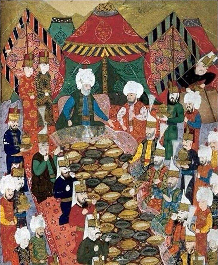 Eski Ramazanlarda şehirde hali vakti yerinde olan kimseler köşklerinde, konaklarında iftar davetleri verir ve bu davetlerde maddi durumu yerinde olmayan kimseler için de sofralar kurulurdu. Yemek faslı bittikten sonra ve misafirler dağılmadan önce ev sahibi bu yoksul kişilere maddi durumu nispetinde diş kirası adı altında işlemeli keselerde akçe veya altın paralar verirdi. Bu kişiler de evin bereketinin daim olması ve artması için dua eder, böylece hane halkına teşekkürlerini sunarlardı. Eski İstanbulda Ramazan ayı sürecince varsıl ev sahipleri iftar daveti verir, bu davette hali vakti olmayanlara da sofra kurulur ve ayrılırken onlara diş kirası adı altında ihsanda bulunulurdu.