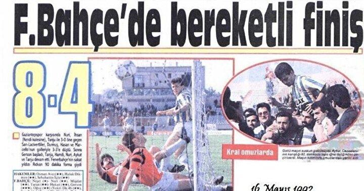 En gollü maç: 1991-1992 sezonunda Fenerbahçe-Gaziantepspor (8-4)
