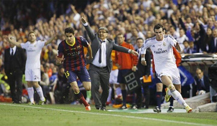 Gareth Bale, Barcelona karşısında 36.9 kilometrelik hıza ulaşarak rekor kırmıştı.