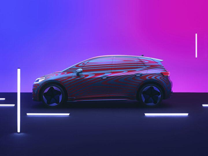 VW Frankfurt Otomobil Fuarı öncesinde ID.3 adlı ilk elektrikli otomobilini resmi olarak tanıttı.