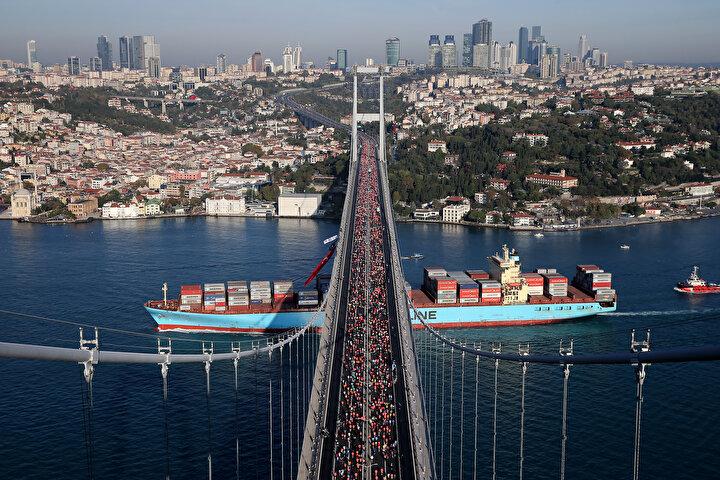İstanbul Maratonundan renkli görüntüler