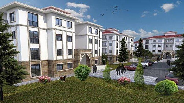 Egedeki konutlarda ise bölgenin geleneksel zarif dokusuna uygun nitelikte mimari özellikler olacak.