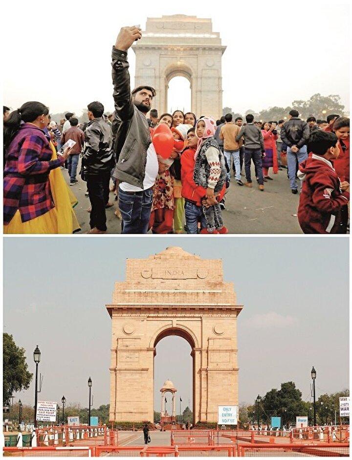 YENİ DELHİ Hindistan'ın başkenti Yeni Delhi'de sosyal izolasyon tedbirleri en üst seviyeye çıkarıldı.