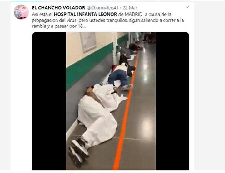 Öte yandan İspanyadaki hastaneden gelen görüntüler dünyayı ayağa kaldırdı. Ülkedeki vaka sayılarındaki hızlı artış ülkedeki sağlık sistemi zor durumda bırakıyor.