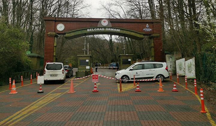 Koronavirüs salgını nedeniyle alınan tedbirler kapsamında İstanbulda Belgrad Ormanının girişi kapatıldı. Ormana gelenler girişlerden geri çevrildi. Ormanın girişinde alınan önlemler havadan görüntülendi.