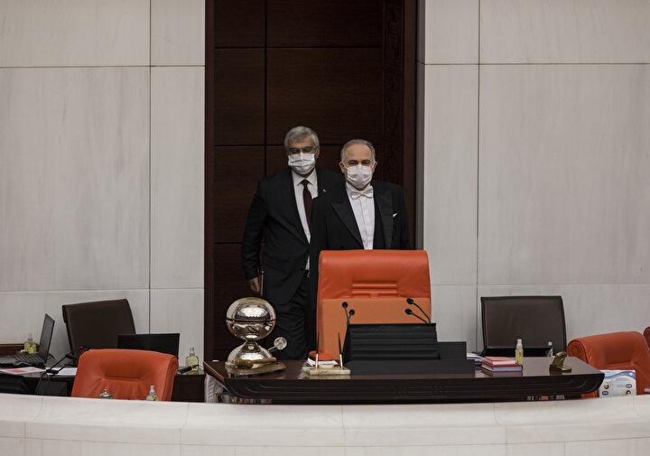 Türkiye Büyük Millet Meclisi (TBMM) Genel Kurulu, Başkanvekili Levent Gök başkanlığında toplandı.
