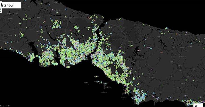 İstanbuldaki yoğunluk.
