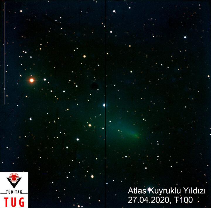 """HAZİRAN SONUNA KADAR İZLENEBİLİR  Bu kuyruklu yıldızın Güneş sistemindeki başka bir gezegene çarpma ihtimali olmadığını da belirten Prof. Dr. Özdemir, """"Yörüngesi hesaplandı. Gayet ayrıntılı şekilde çıkartıldı. Astronomlar, nereden geçeceğini gayet ayrıntılı bir şekilde çözdü. Herhangi bir gezegene çarpma olasılığı yok. Güneş etrafından dolanıp tekrar yörüngesinde devam edecek. Şu anda gökyüzünde konumu belli. Haziran ayı sonuna kadar izlenebilir dedi."""