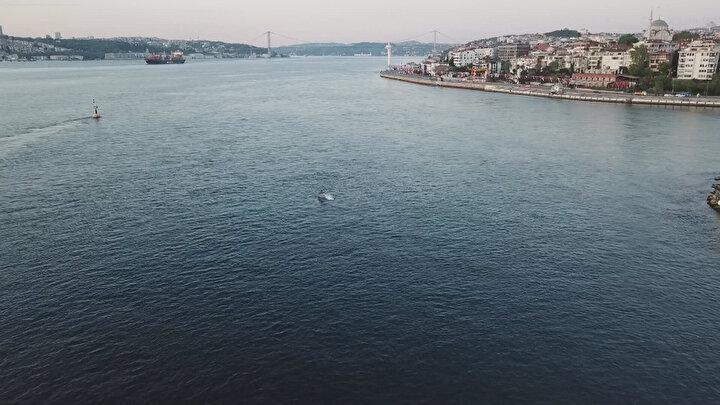 O anlar drone tarafından havadan fotoğraflandı.