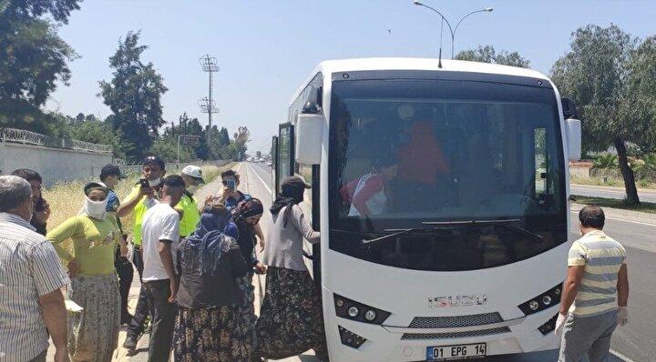 14 kişilik araçtan 35 kişi çıktı