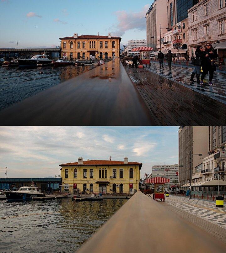 İzmir yaşayan bir şehir, canlı bir şehir, renkli bir şehir. Ancak kısıtlamanın olduğu günler çekilen fotoğraflarda hiçbir renk, hiçbir duygu yok. Bu da insanları çok fazla üzdü. Bazı yorumlar beni çok mutlu etti. İyi ki fotoğraf sanatıyla uğraşıyorum ve insanların duygularına bu kadar değebiliyorum dedim. Normalde sokak fotoğrafı ve manzara fotoğraflarını daha çok çekmeye çalışıyorum. 12 yıldır sürekli fotoğraf çekiyorum ve fotoğraf benim ruhumu dinlendiriyor. Görevli olmadığım zamanlarda sürekli fotoğraf çekerek anları ölümsüzleştirmeye çalışıyorum. Fotoğraf, içinde duygu yüklü olan kareleri barındırıyor. Ben de bu kareleri insanlara aktarmaktan büyük mutluluk duyuyorum. Fotoğraf benim için vazgeçilmezdir bu yüzden de fotoğraf makinem ben nereye gidersem benimle gelir.