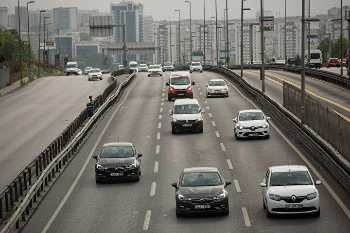 İstanbulda trafikte yoğunluk
