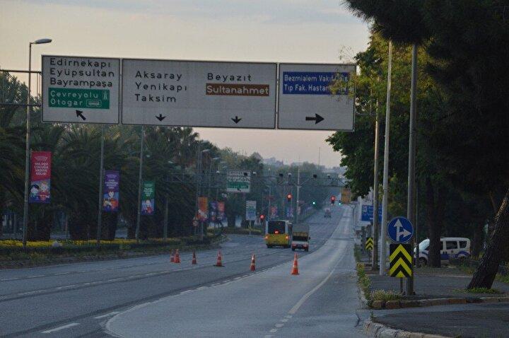 Şehrin önemli güzergâhlarından olan Vatan Caddesi, E-5 karayolu ve Taksim Meydanındaki boşluk ise kameralara yansıdı.