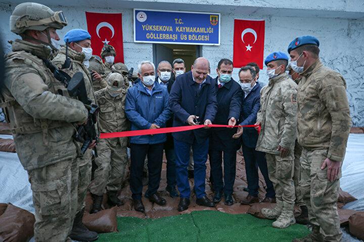 İçişleri Bakanı Soylu İkiyaka Dağlarında üs bölgesinin açılışını yaptı