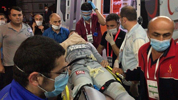 Fernando Muslera, stadyuma en yakın hastaneye getirildi.